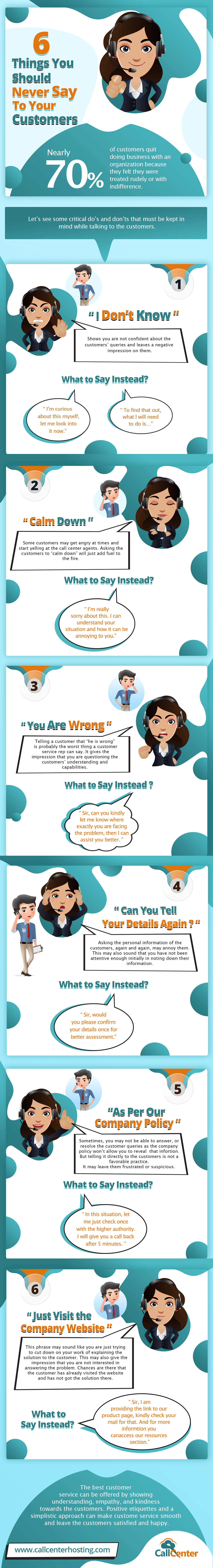Infographic: Never Say These Things to Your Customers